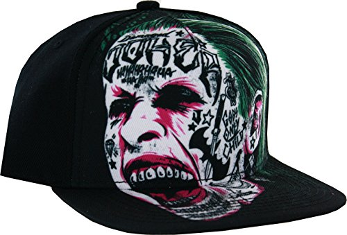 Suicide Squad Joker Snapback Hat Black