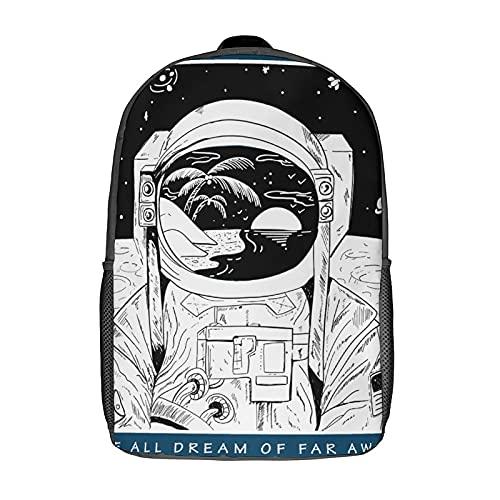 Creatività Impermeabile per bambini bambini studenti della scuola zaini borse borse eleganti stampate Interessante Astronauta Spazio Danza, nero-stile-5, Taglia unica