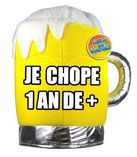 Chapeau Chope 1 An de Plus - Taille Unique