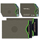 Tenn Well Credit Card Protector, RFID Blocking Credit Card Sleeves for Identity Theft