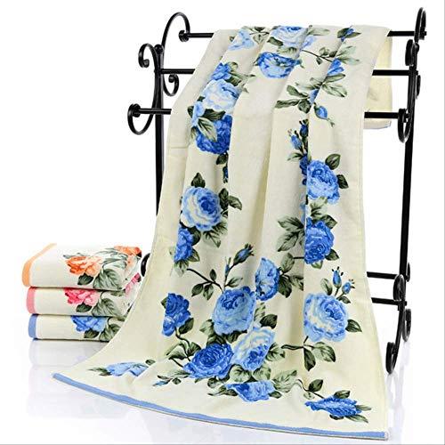 QZHYGE Toalla de baño de algodón Terry 3pcs para Adultos 1pcs Toalla de baño 2pcs Toalla de baño 2pcs Toalla de baño Floral Decoración de la Boda Conjunto como Detalles Azul