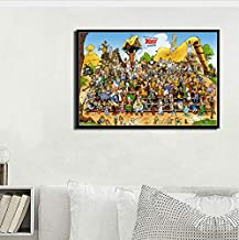 Asterix France Classic Comic Art Painting Silk Canvas Poster Wall Home Decor 40 * 60Cm No Frame