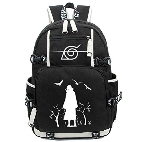 yoyoshome Anime Naruto Cosplay Schultasche Messenger Bag Rucksack Schule Tasche schwarz Naruto1