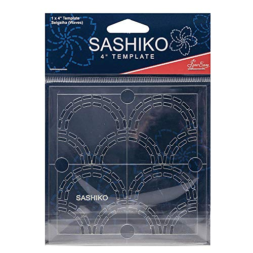 Sew Easy Sashiko Stickvorlage 4 x 4in Seigaiha (Wellen)