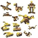 Msoah 40 Piezas Bloques Magneticos, Juguetes Robot Magnéticos con Caja De Almacenamiento, Juguetes Bloques De Construcción Educativos para Niños Niñas De 2 3 4 5 6 7 8 Años
