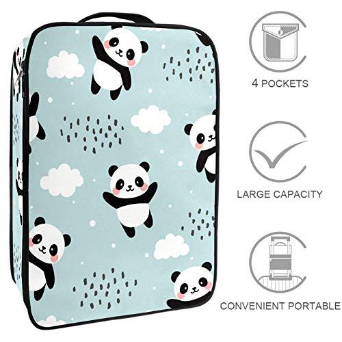 TIZORAX schoen tas Panda met wolken Travel Schoenen Opslag Organisator Pouch Houdt voor Mannen en Vrouwen