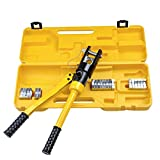 Yescom 16 Ton Hydraulic Wire Crimper Crimping Tool 11 Dies Battery Cable Lug Terminal