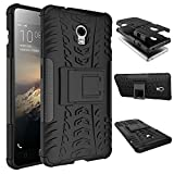 WindCase Lenovo Vibe P1 Hülle, Outdoor Dual Layer Holster Armor Tasche Heavy Duty Defender Schutzhülle mit Ständer Case für Lenovo Vibe P1 Schwarz