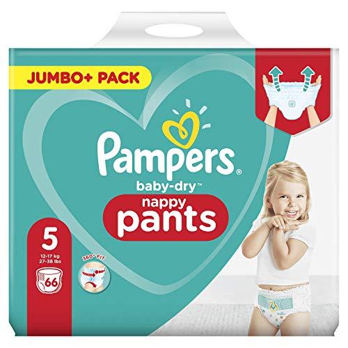Pampers 81714241 Baby-Dry Pants windelhose, Weiß, 66 Stück