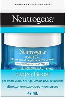 Neutrogena hydroboost facial gel cream for extra dry skin with hyaluronic acid to hydrate skin, gel moisturizer, 47ml