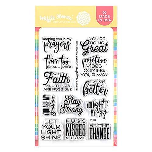 Waffle Flower Fresh Rainbow Sentiments (This Set Celebrates New and Fresh Beginnings)