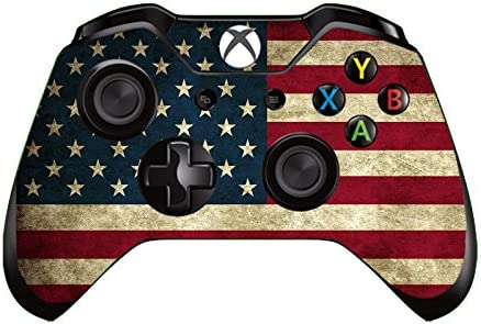 Gebaisi Vinyl Skin Sticker Protector for Microsoft Xbox One Controller Joystick USA American product image