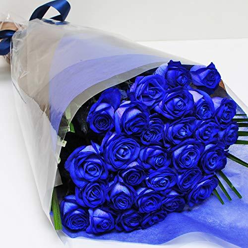 本数をお選びください 青いバラの花束 5本〜100本 神秘的なブルーローズ 奇跡の花 エーデルワイス 花工房 (30)