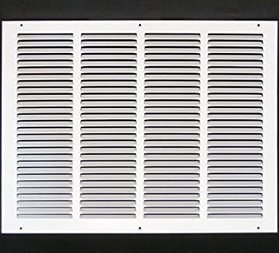 """20""""w X 16""""h Steel Return Air Grilles - Sidewall and Ceiling - HVAC DUCT COVER - White [Outer Dimensions: 21.75""""w X 17.75""""h]"""