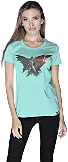 Creo Batman Power Super Hero T-Shirt For Women - Xl