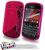 Muzzano F19S7-26854088 - Funda para Blackberry Bold 9900, con 3 protectores de pantalla, color rosa