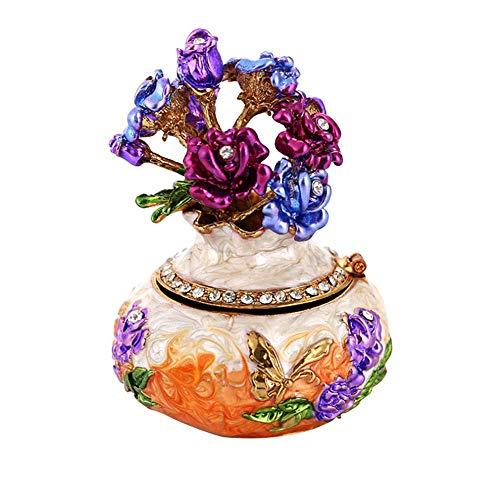Everpert Support d'éponge de Maquillage en Émail Forme d'arbre Boîte à Bijoux/Décoration Chambre pour Pâques