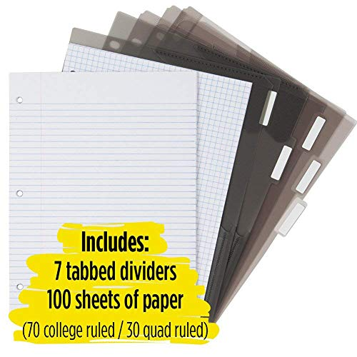 Five Star Flex Hybrid NoteBinder, 1-1/2 Inch Binder with Tabs, Notebook and 3 Ring Binder All-in-One, Teal (38681) Photo #6