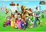 Super Mario Bros,Puzzle 1000 Piezas,Imágenes Juegos De Puzzle para Adultos Rompecabezas De PapelA637(38 * 26cm)