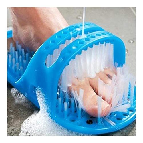 Plastique de bain Chaussures douche brosse de massage chaussons de bain Chaussures brosse for les pieds Pierre ponce Pied Scrubber Brosses Soins des pieds outil