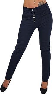 Candygirls DM1773 - Pantalones vaqueros para mujer con botones