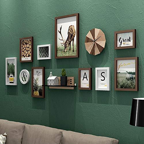 Amerikanischen Stil Vintage Wandbehang Bilderrahmen Set Schlafsofa Wand Holz Bilderrahmen Qualität Bilderrahmen porta retrato-qiaokelibaise