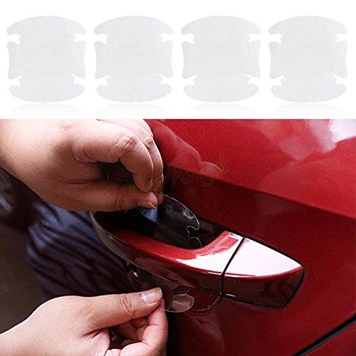SKS Distribution® 4PCS UNIVERSAL unsichtbar Auto Tür Griff Aufkleber Auto Aufkleber Schutz Displayschutzfolie Film Kratzer Resistant Cover