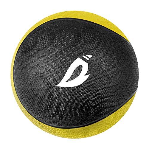 XGEAR Medizinball Gewichtsball Fitnessball Gesund Training Workout 4,5 KG, Φ23cm, Gelb/Schwarz