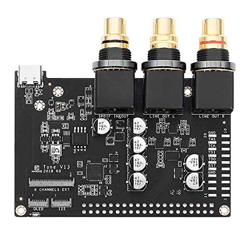Khadas Tone Board Audio de alta resolución USB DAC basado en chip ES9038Q2M XMOS XU208 de 32 bits Tarjeta de sonido externa con entrada S / PDIF