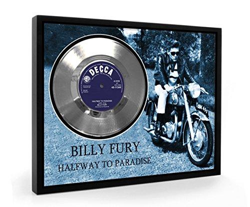 Billy Fury Halfway To Paradise Framed Disco d'argento Display Vinyl (C1)