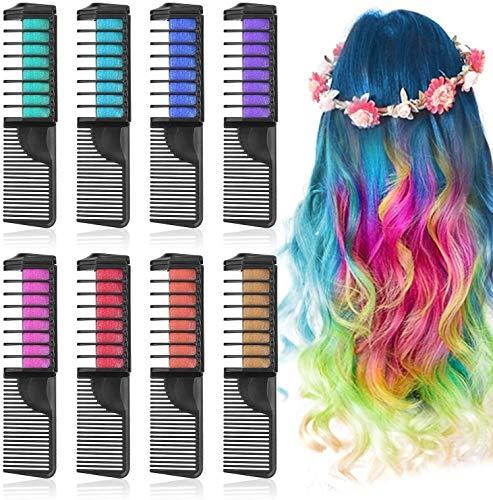 Peigne magique, Combs Dye Chalk Cheveux - Cheveux Craie for Couleur des cheveux temporaires Chalk Peigne Chalk Hair Dye for les filles Halloween bricolage for enfants