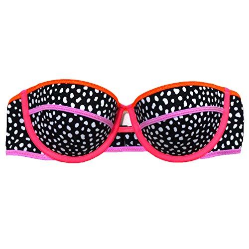 Victoria's Secret 1PC Bikini Top trägerloses Flirt Bandeau -  mehrfarbig -  75B