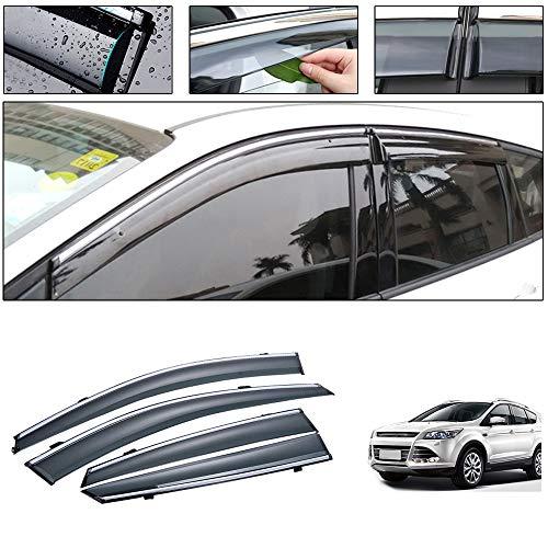 saitake Windabweiser Für Ford Kuga 2013-2019 4PCS Autofenster Visier Sonne Regen Rauchabzug Schatten Klebeband Außenvisiere