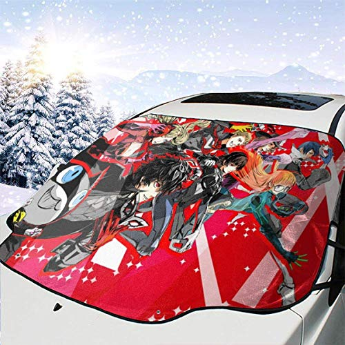 Drew Tours Persona Multifunktionsauto Windschutzscheibe Schneedecke, Sonnenschutz für Winterschutz Kratzer verhindern Wasserdicht, für die meisten Fahrzeuge Autos 58x46in