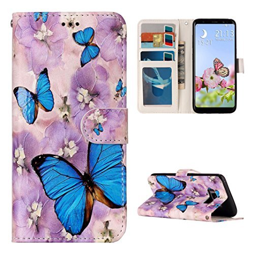 Galaxy S8 Plus Flip Case, Samsung Galaxy S8 Plus Wallet Case, Rosa Schleife PU Leather Color Painted Embossed Flip Folio Magnetic Closure Phone Case Protective Cases Covers for Samsung Galaxy S8 Plus