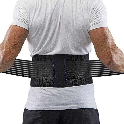 Supportiback Cintura Lombare terapeutica Tutore per la Zona Lombare e Cintura di Sostegno – Pannelli in Rete Traspiranti, Strap Antiscivolo con Regolazione Doppia – Leggera e discreta