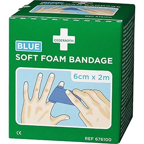CEDERROTH Soft Foam Bandage Rolle Farbe blau Länge 200 cm Breite 6 cm