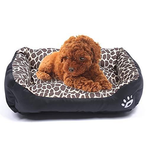 Tuzi Qiuge Haustierbedarf, Hundebett für Stofftiere Sofa warm Hund Kennel Matte Waschbar, Größe: L 66 x 50 x 14 cm (Color : Amber)