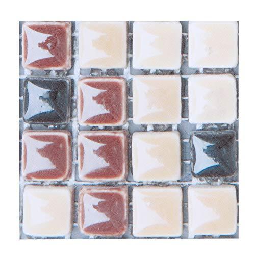 Changor Etiqueta engomada de la mosaica Adecuada, Signo de pie de Seguridad Signo de baldosas con Tejas Pegatina 10x10cm PVC Hecho
