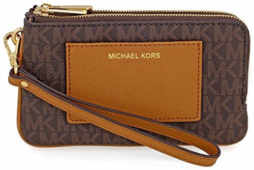 MICHAEL Michael Kors Signature Bedford Medium Double Zip Wristlet
