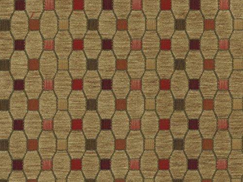 Landhausstil Möbelstoff Como Raute mit Fleckschutz Farbe sand (braun, braungelb) - Flachgewebe (Geometrisch, Karo), Polsterstoff, Stoff, Bezugsstoff, Eckbank, Couch, Sessel, Hussen, Kissen