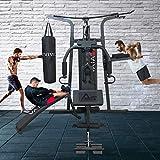 Kraftstation AsVIVA MG6 Pro 50in1 90kg Box- Kampfsport Multi-Gym inkl. Dip-Station, Bauchtrainer und Boxsack mit Boxhandschuhe