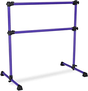 Abbeydh 4' Height Adjustable Portable Double Freestanding Ballet Barre