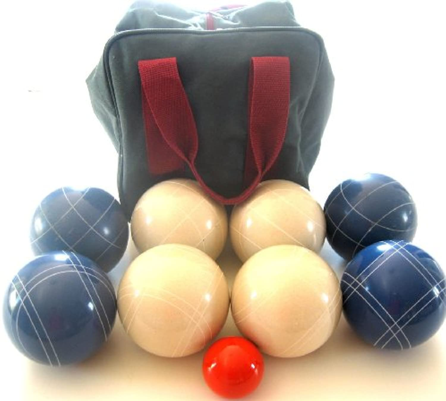 Premium Quality EPCO Tournament Set110mm bluee and White Bocce Balls with high quality nylon