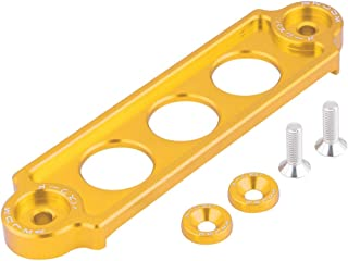 Cuque Battery Tie Down Bracket Aluminum Alloy Car Battery Clip Holding Bracket Lock Anodized for Honda Civic CRX 1988-2000 Civic 2006+ Honda S2000 2000-2008 Acura Integra 1994-2001(Golden)