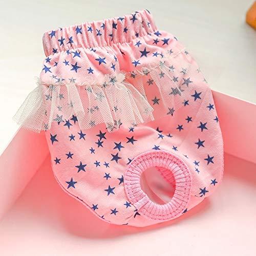 Ropa Interior de menstruación para Perros y Mascotas, Pantalones de período de pañal fisiológicos Lavables cómodos y Transpirables para Perros (Size : Small, 型号 Style : Type-A)