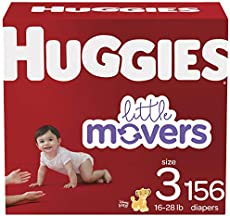 Huggies Baby Diapers, Little Movers, Multi-Color, Size 3, 156 Count