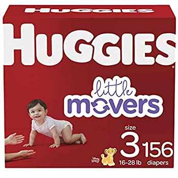 Huggies Baby Diapers Little Movers Multi-Color Size 3 156 Count