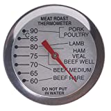 Meat Thermometer Probe Oven Proof - Leave in Oven to Measure Meat Temperatures with Recommended Cooking Temperatures for Meat and Poultry