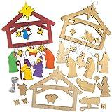 Baker Ross AX578 Weihnachtskrippe Mobilen Aus Holz Bastelset Für Kinder - 2 Stück, Festliche...